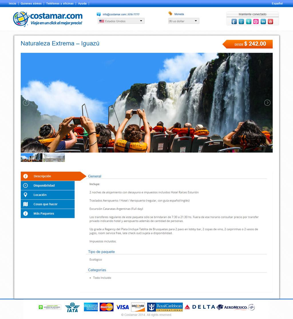 Costamar Travel Website Design Tour