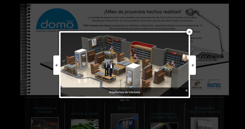 Grupo Domo Peru Modal Design