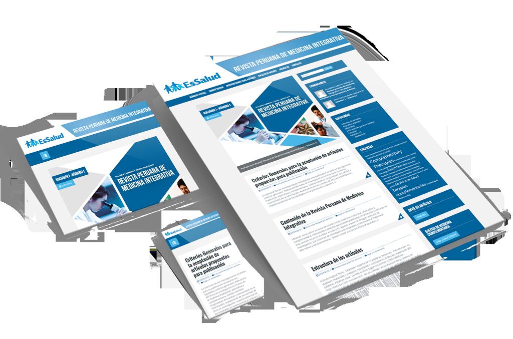 Peruvian Journal of Integrative Medicine Homepage Design