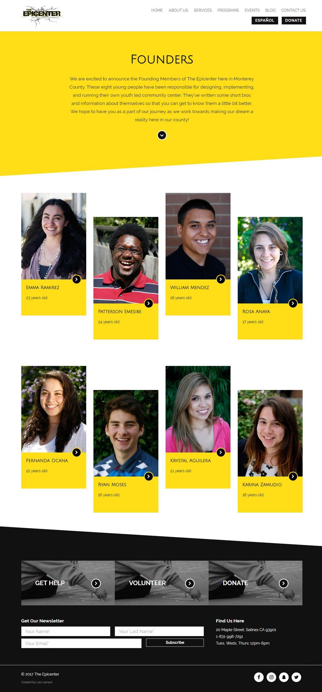 The Epicenter Monterey Website Design Founders