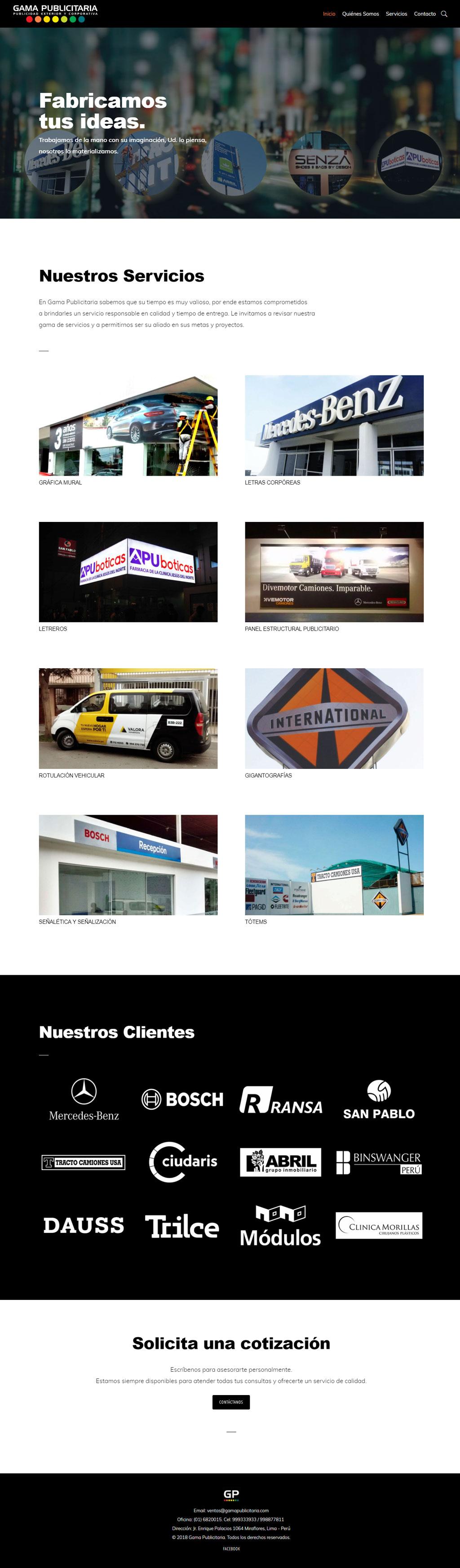 Gama Publicitaria - Home Page