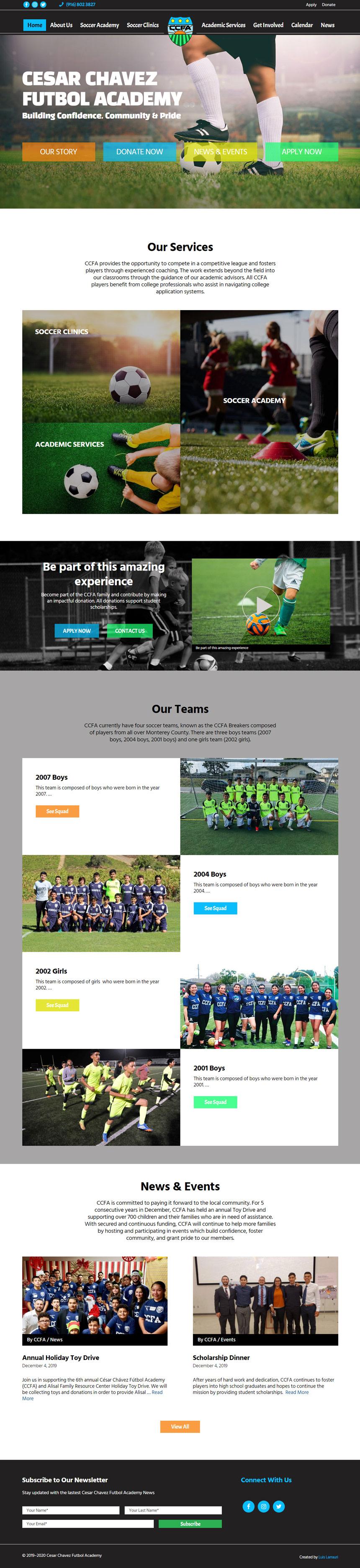 Cesar Chavez Futbol Academy Home Page