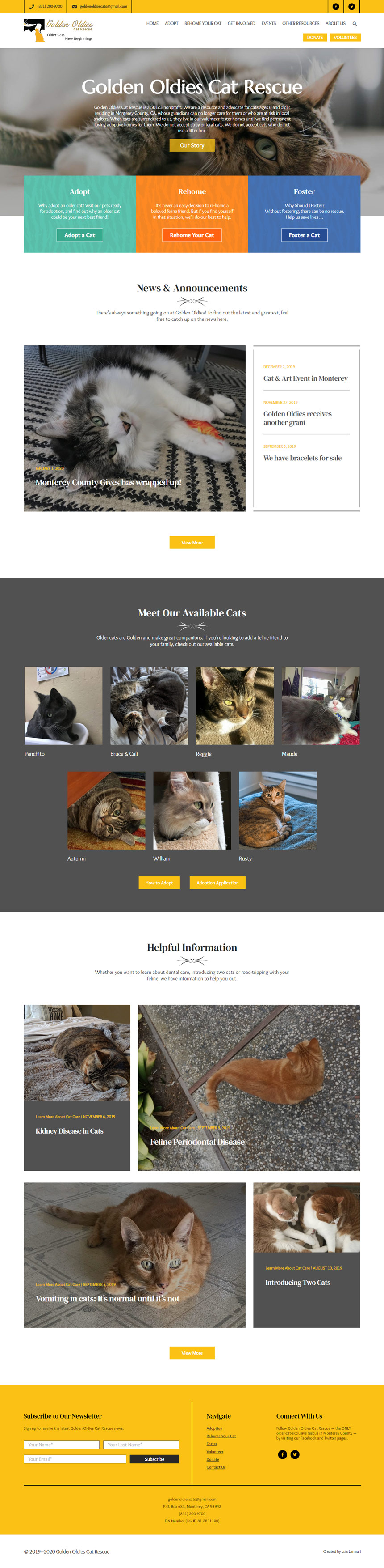 Golden Oldies Cat Rescue Home Page